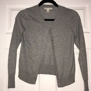BANANA REPUBLIC gray cardigan